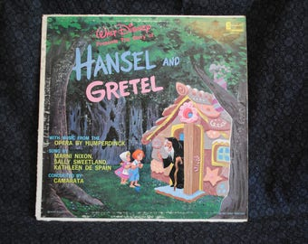 Walt Disney's The Story of Hansel and Gretel Disneyland Record LP Album
