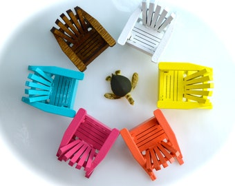 Adirondack Chair  ~  Small and Extra Small ~ Terrarium Accessory ~ Miniature Chair ~ Dollhouse Miniature ~ Color and Size Choices ~ So cute!