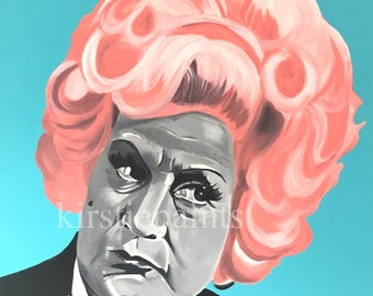 """And I am unanimous in this! Mrs Slocombe print, retro, comedy, """"Are you being served"""""""