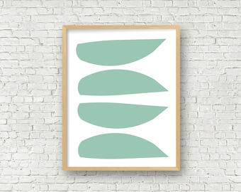Turquoise Modern art 11x14 and 16x20 art prints abstract art turquoise art digital art printable wall art instant download modern art