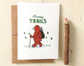Happy Trails Bear Card