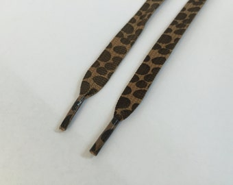 Leopard Printed Shoelace, 50 inches long,