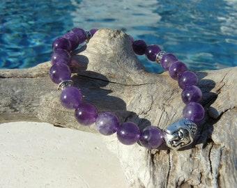 Amethyst Buddha ZEN bracelet