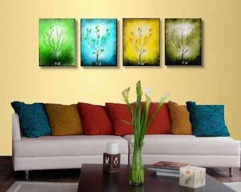 Four Seasons- Abstract Landscape Art Prints-  Free Shipping inside US