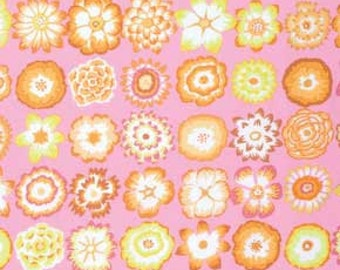 Kaffe Fassett for Rowan and Westminster Fibers - Button Flowers - Pink - Quilt Fabric - FQ - Fat Quarter Cotton Quilt Fabric 516