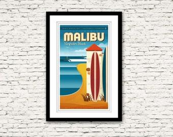 Malibu California Print 16x26