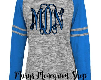 Monogrammed long sleeve,Monogram Space-Dye Crew