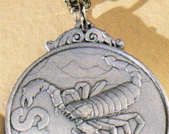A pewter pendant for Scorpios!  Birthdates from Oct 23 - Nov 21