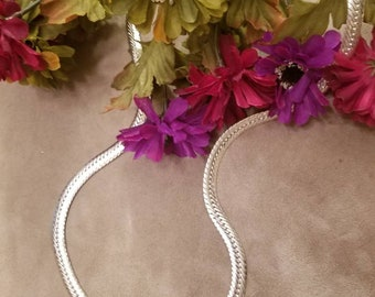 Heavy Omega Chain, Necklace, Chain, Ladies Plated Chain, High Quality Omega Chain, Mint Condition, Silver, Dress or Casual Wear, Gift Idea