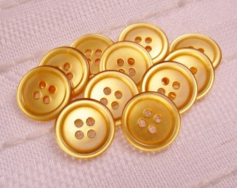 "Pale Pumpkin Gloss: 3/4"" (19mm) Light Orange Semi-Transparent Buttons - Set of 11 New / Unused Matching Buttons"