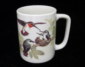 Hummingbirds Coffee Mug Otagiri Birds Nest Cup Gibson Greeting Design Made In Japan