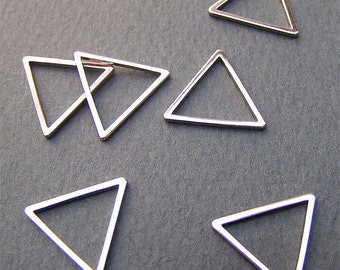 12mm Silver Triangle Link Charm Popular Link Modern Jewelry Supply 10 pcs