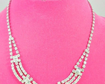 Rhinestone Bridal Wedding Necklace
