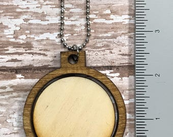 "2"" round wood mini hoop • pendant • DIY KIT"