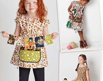 GIRLS CLOTHES PATTERN / Pullover Tunic or Dress / Summer Clothes in Sizes 3 to 8