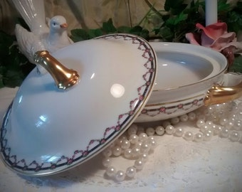 Vintage Covered Casserole Dish by Heinrich Navarre H & C Co Selb Bavaria, Manchester