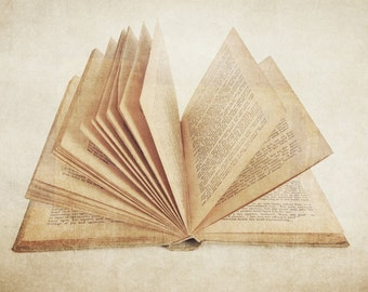 The Open Book Photographic Art Print, Wall Art for Home decor, 12 Sizes Available from Prints to Mounted Canvas
