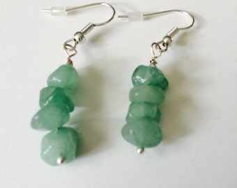 Aventurine Earrings.