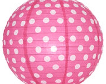 14' Polka Dot Paper Lanterns