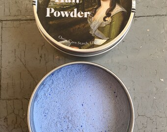 18th Century Blue Hair Powder- Charles Fox - Modern Label Washout Hair Color Blue Hair Chalk Natural Hair Chalk  18th Century Colored Powder