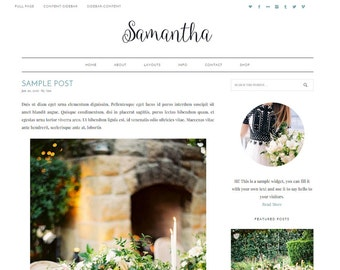 "NEW WordPress Theme - WordPress Blog Theme - Photography Theme - Genesis Theme - ""Samantha"" Instant Digital Download"