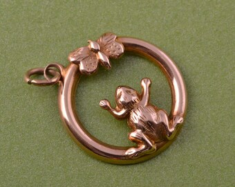 9ct Rose Gold Victorian Charm / Pendant (765a)