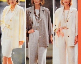 Butterick 3370 Very easy to sew jacket, top, skirt and pants pattern Uncut Sizes 20, 22 and 24