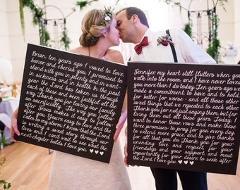 Wedding Vows, Deluxe Canvases, Photo Prop