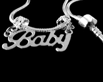 Baby necklace  baby charm necklace  my baby necklace  baby on the way necklace  best baby gift European Style Necklace