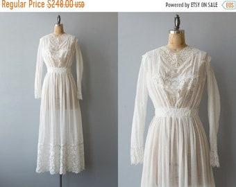 SPRING SALE // High Seas dress | 1900s white cotton edwardian dress | Antique tea dress with embroidery