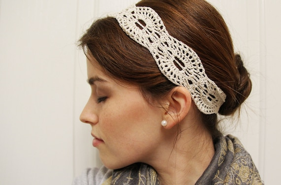 Crochet Pattern - Lace Headband - Instant Download from ...