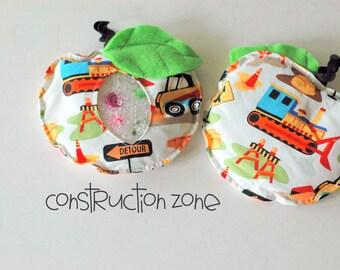 SALE Back-to-School Apple Construction I Spy bag, bean bag for games