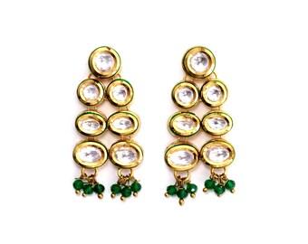 Zoya Gold Kundan Earrings