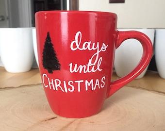 Holiday Christmas Mugs - Chalkboard, snow, snowflakes, hope - Custom and Personalized Mug