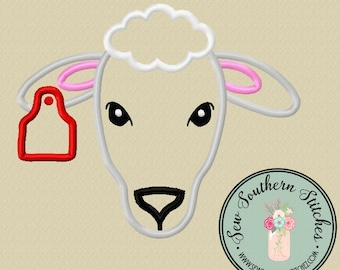 Sheep Applique Design ~ Sheep with Satin Stitch finish ~ Instant Download