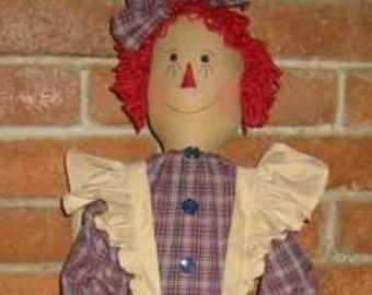 Raggedy Vacuum Cover Doll E Pattern