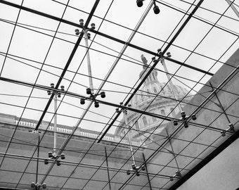 United States Capital Building, Washington DC // Black and White Fine Art Photography // Square Photo Print