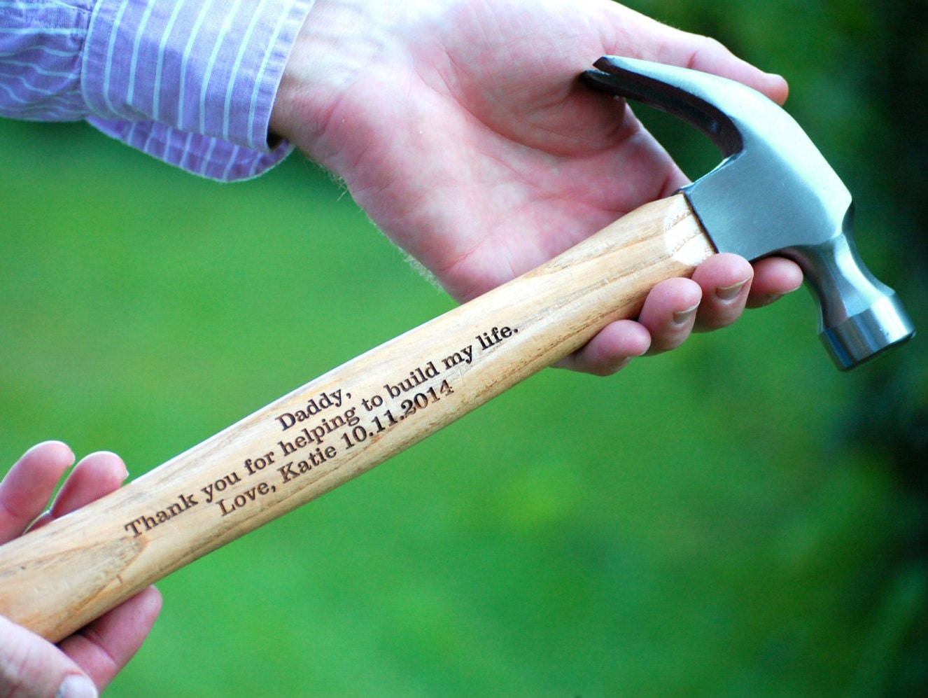Father of the Bride Gift Wedding Personalized Hammer Father of