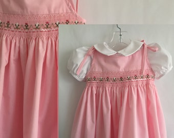 Flowers on Pink Tie Dress -Size 18 mo