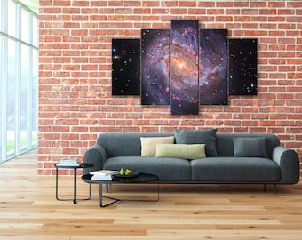 Southern Pinwheel Galaxy, Messier 83, Space canvas, Galaxy wall art, Spiral galaxy, Messier 83 canvas, Hubble Telescope, Space wall art