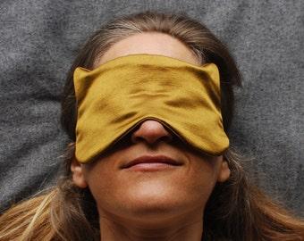 Eye Mask - Sleep Mask - Cat Mask - Bronze - Hemp Silk - Eco Friendly