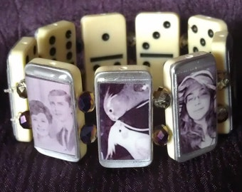 Custom made Domino Photo Bracelet
