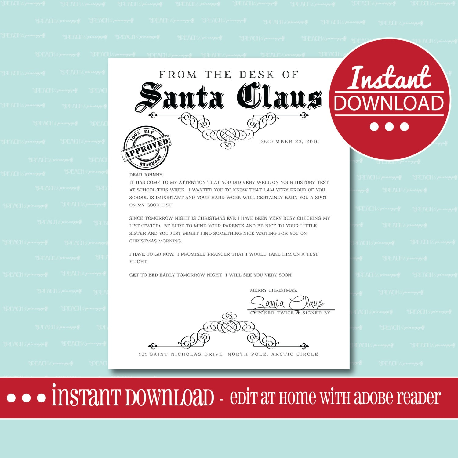 Awesome Printable Letter From Santa Christmas Morning Pictures