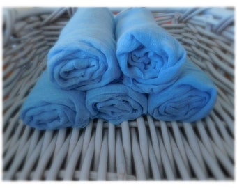 Periwinkle blue fabric cheescloth wraps