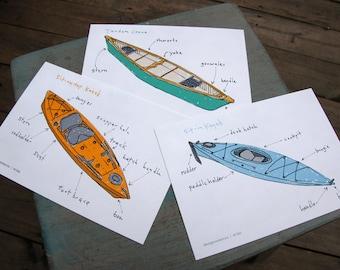 Boat Postcards (set of 3)
