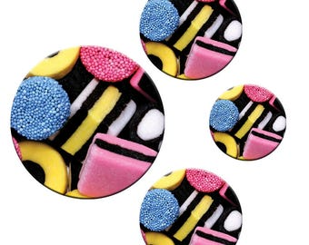 A pack of 4 Patternweights Ideal for holding Patterns onto fabric liquorice
