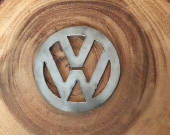 Steel Metal Volkswagon VW Rustic Recycled Christmas Ornament
