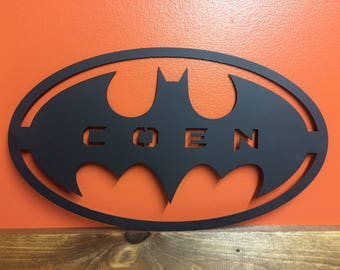 Custom Batman Logo With Name
