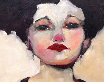 Art Print, Female Portrait, Giclee Print, Free Shipping, Figurative Art, 8 x 10, Wall Art, Decorative Art, Gift for Her