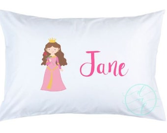 Personalized Custom Girl Princess Pillowcase